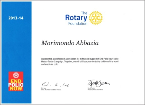 Contributo campagna END POLIO NOW 2013-2014b