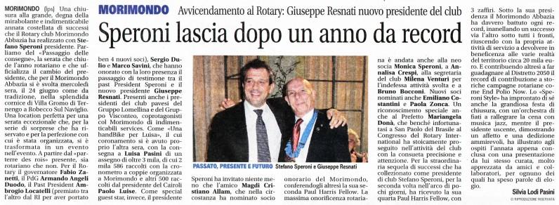 ARTICOLO PASSAGGIO CONSEGNE