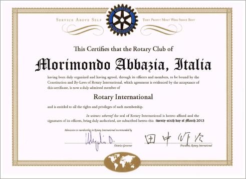CARTA COSTITUTIVA DEL RC MORIMONDO ABBAZIA 94989