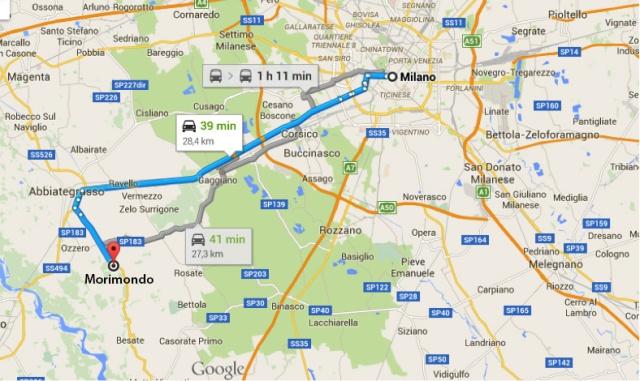 Mappa Morimondo
