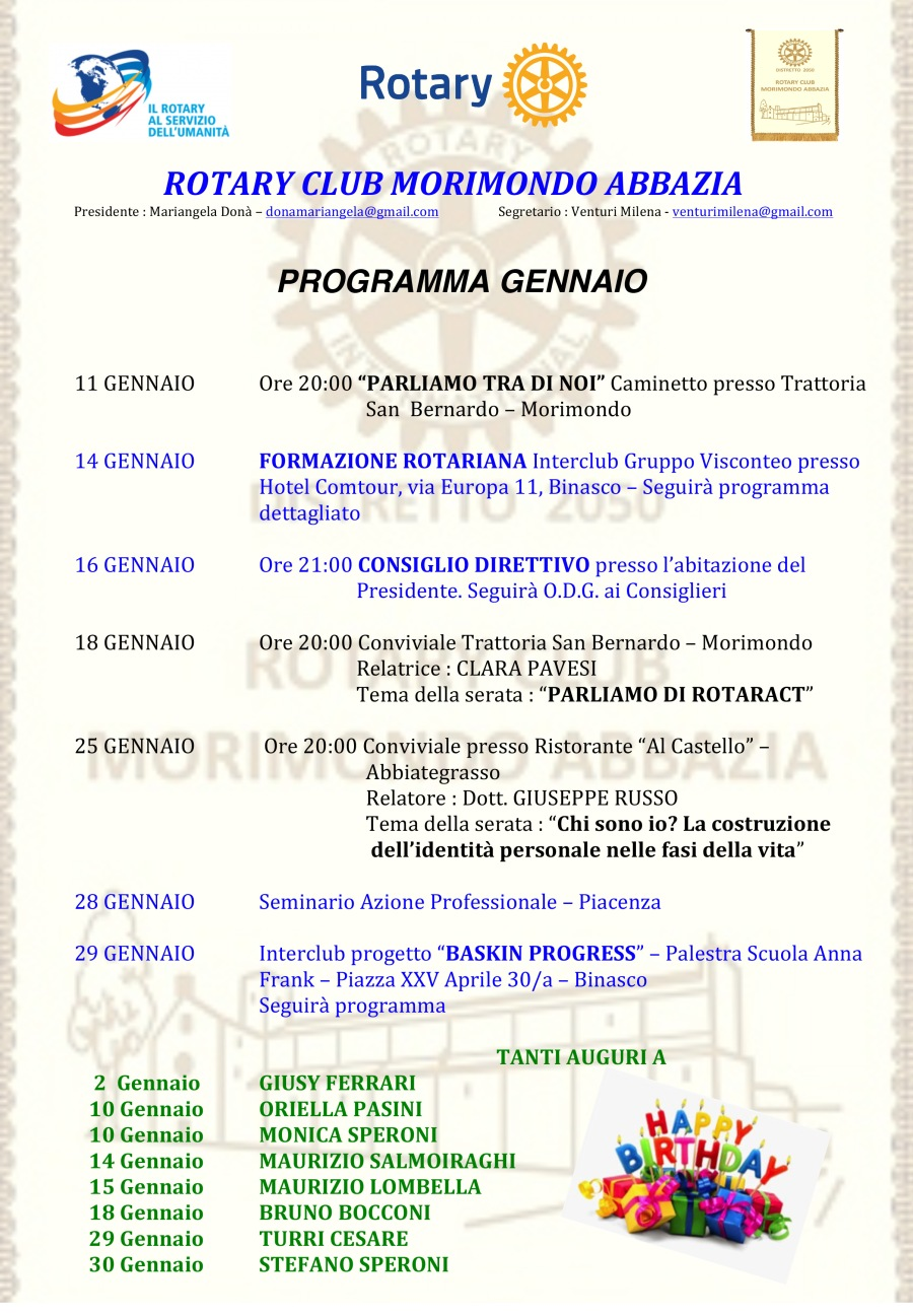 Microsoft Word - Programma GENNAIO 2017.docx